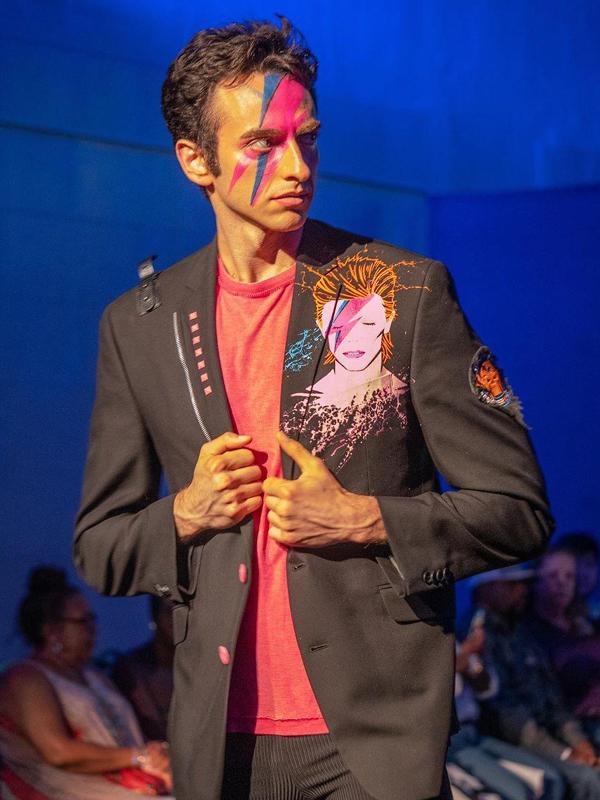 RockStarr Designer Wear David Bowie Jacket New York Fashion Week