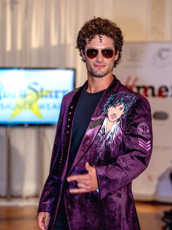 RockStarr Designer Wear Prince Jacket on Fashion Show Runway