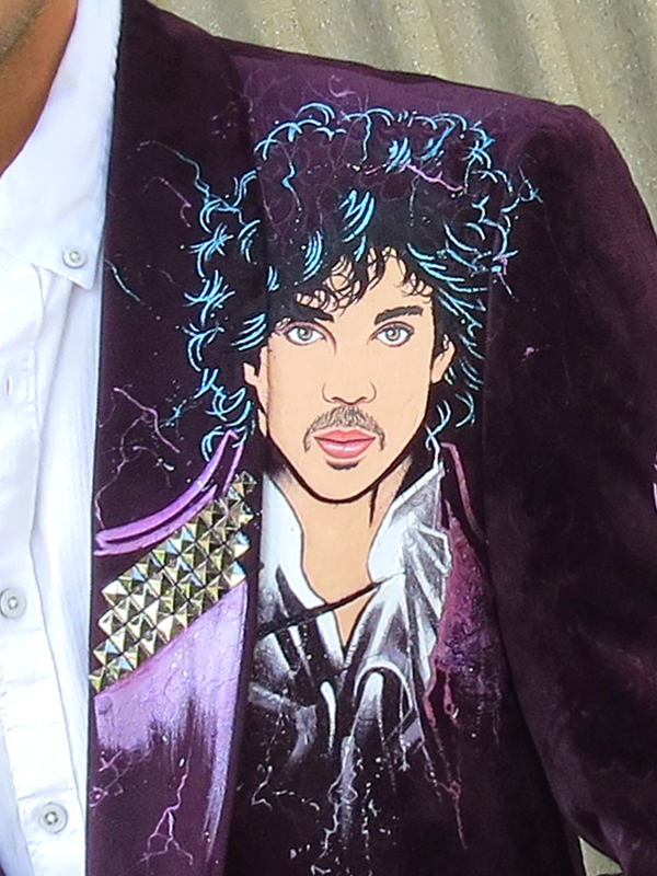 RockStarr Designer Wear Prince Purple Rain Jacket