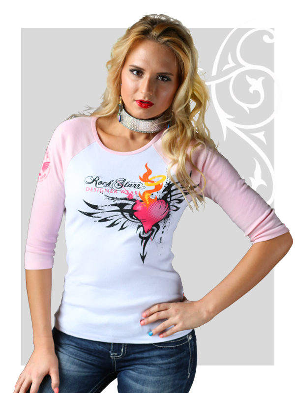 RockStarr Designer Wear Angel Womens T-shirt