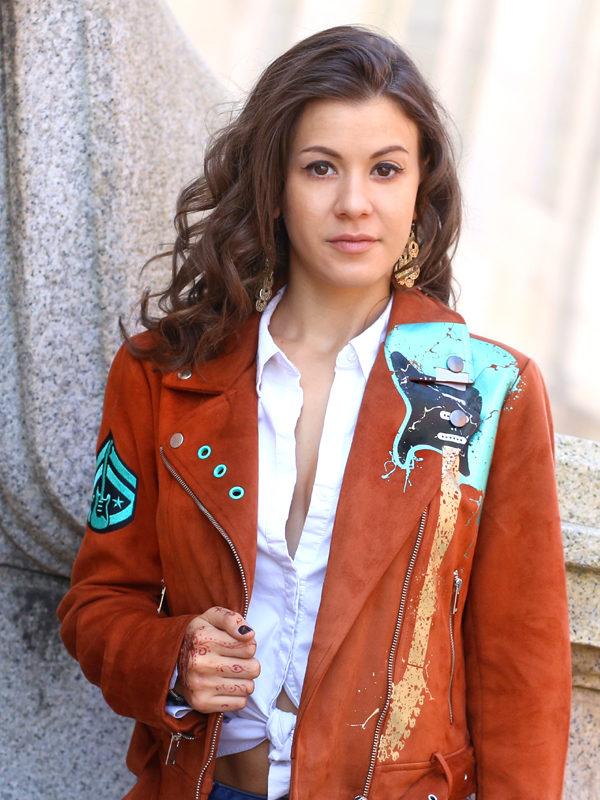 RockStarr Designer Wear Aqua Guitar Womens Jacket