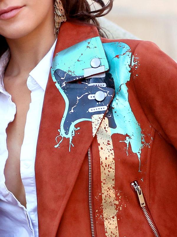 RockStarr Designer Wear Brown Faux Suede Womens Jacket