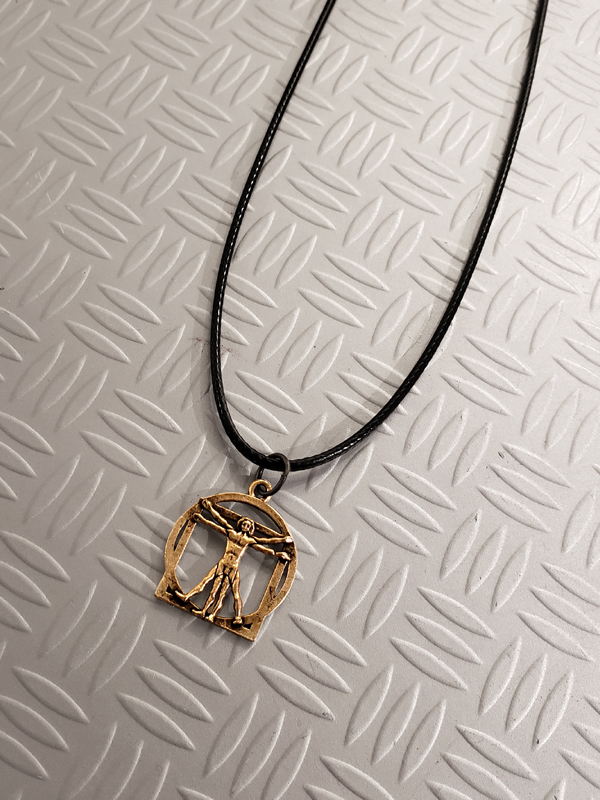 RockStarr Designer Wear DaVinci Gold Fashion Necklace