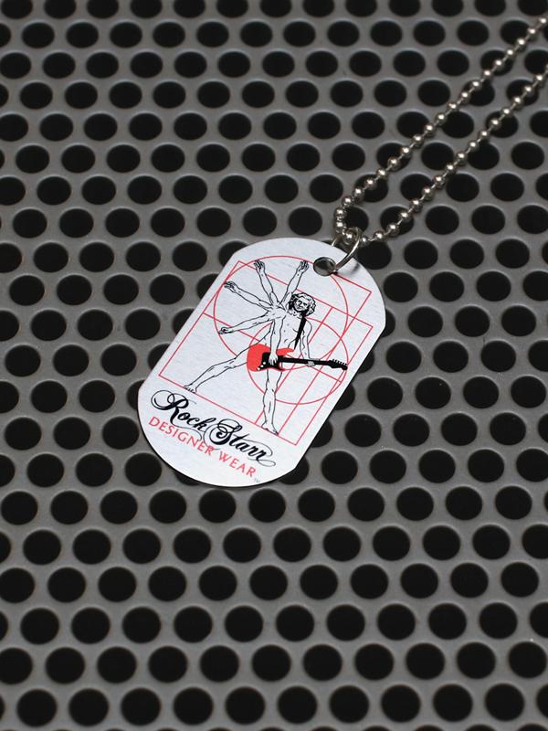 RockStarr Designer Wear DaVinci Guitar Necklace