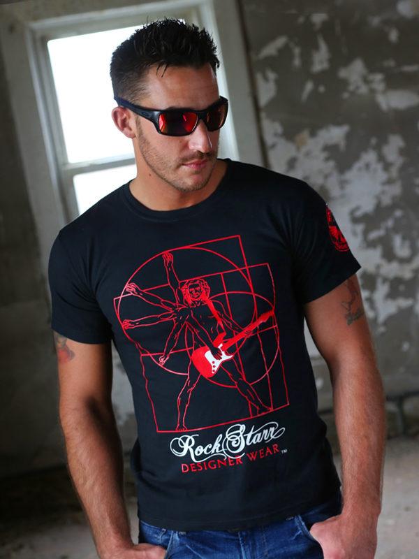 RockStarr Designer Wear DaVinci Mens Tshirt