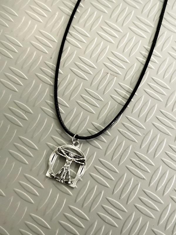 RockStarr Designer Wear DaVinci Silver Fashion Necklace