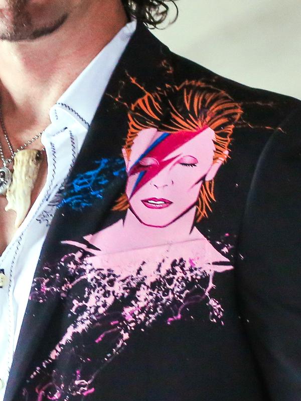RockStarr Designer Wear David Bowie Mens Blazer
