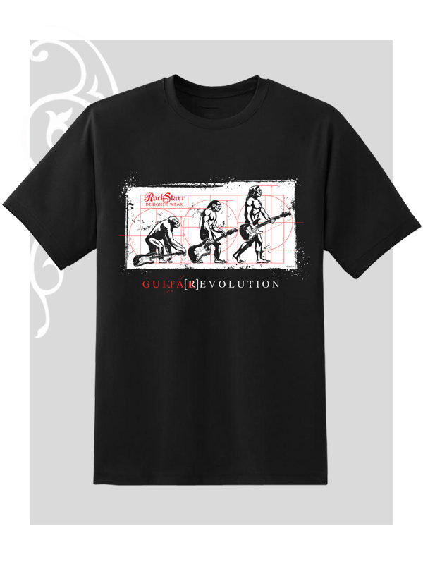 RockStarr Designer Wear Guitar Evolution T-Shirt