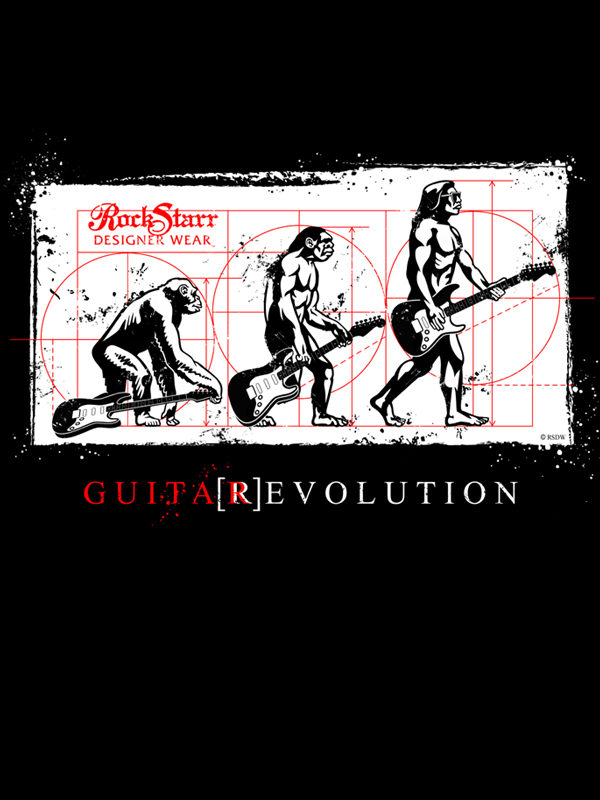 RockStarr Designer Wear Guitar Revolution Fashion T-Shirt