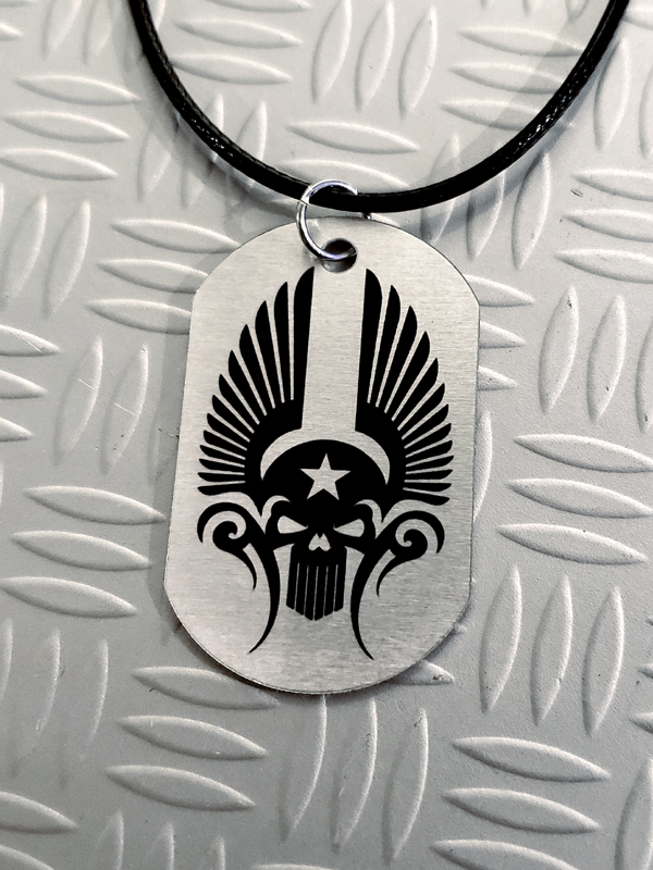 RockStarr Designer Wear Skull Dog Tags