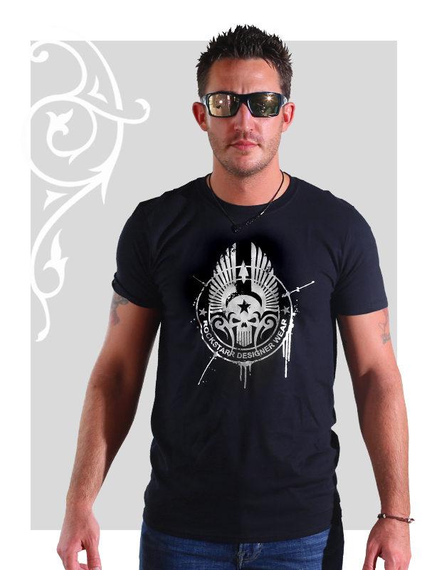 RockStarr Designer Wear Skull Mens T-shirt