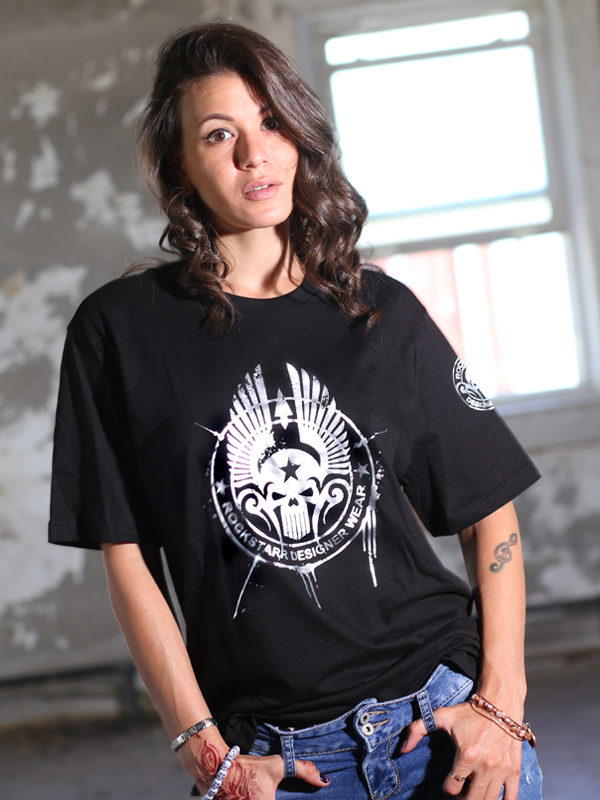 RockStarr Designer Wear Skull Womens T-shirt