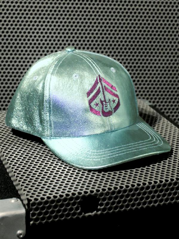 RockStarr Designer Wear Axe Corps Aqua Shimmer Hat