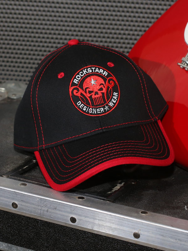 RoskStarr Designer Wear Black and Red Skull Cap