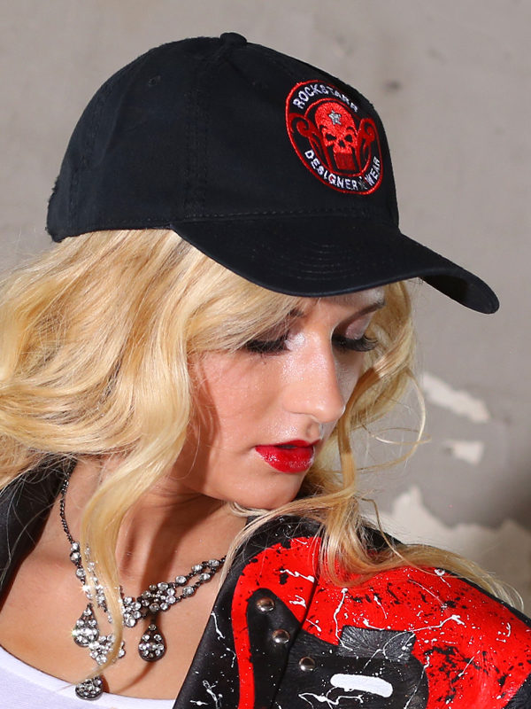 RoskStarr Designer Wear Model Wearing Skull Hat